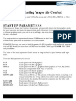 Chuck Yeagers Air Combat - Quick Reference Card - PC