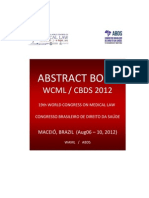 Wcml2012 - Cbds2012 - Abstract Book v-15