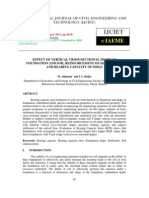 Effect of Vertical Cross-sectional Shape of Foundation and Soil Reinforcement