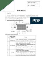 Pengertian Fungsi Prinsip Osiloskop