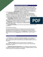 Características de las impresoras de matriz de puntos