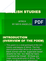 Poetry Africa Maya Angelou