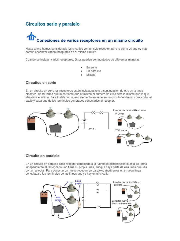 Circuito Serie Y Paralelo : Taller de circuitos serie y paralelo