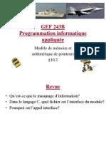 18 - Modele de Memoire Etl Arithmetique de Pointeur