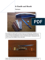 Wooden Knife Handle and Sheath
