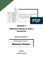 1 A1 -- Máquinas Simples de Izaje