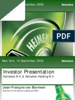 Heineken Group Presentation JFB US H1 2009