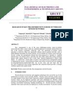 Research on Key Predistribution Scheme of Wireless Sensor Networks