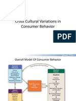 Consumer Behavior- Session 7- Cross Cultural Variations