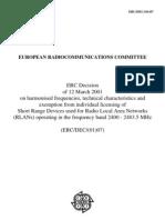 DEC0107- Actul de Reglementare Al Puterii de Emisie