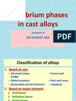 Equilibrium Phases in Cast Alloys