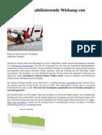 Strompreis Stabilisierende Wirkung Von Speichern