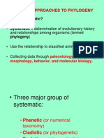 Systematic Approaches to Phylogeny)