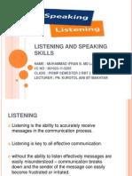 Listening and Speaking Skills File