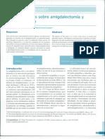 Consederaciones de Amigdalectomia y Adenoidectomia