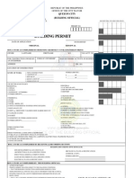 Building Permit Form Sample Quezon City