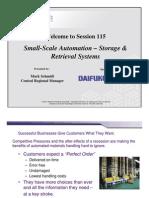 Small-Scale Automation – Storage &  Retrieval Systems