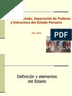 Separacion Poderes y Estructura Estado Nueva