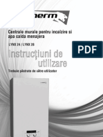 Manual de Utilizare Centrale Murale Lynx Protherm