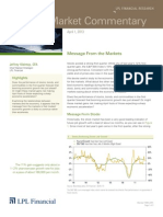 Weekly Market Commentary 4/1/2013