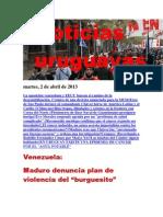 Noticias Uruguayas Martes 2 de Abril Del 2013-1