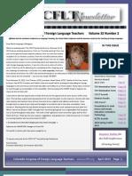CCFLT April 2013 Newsletter
