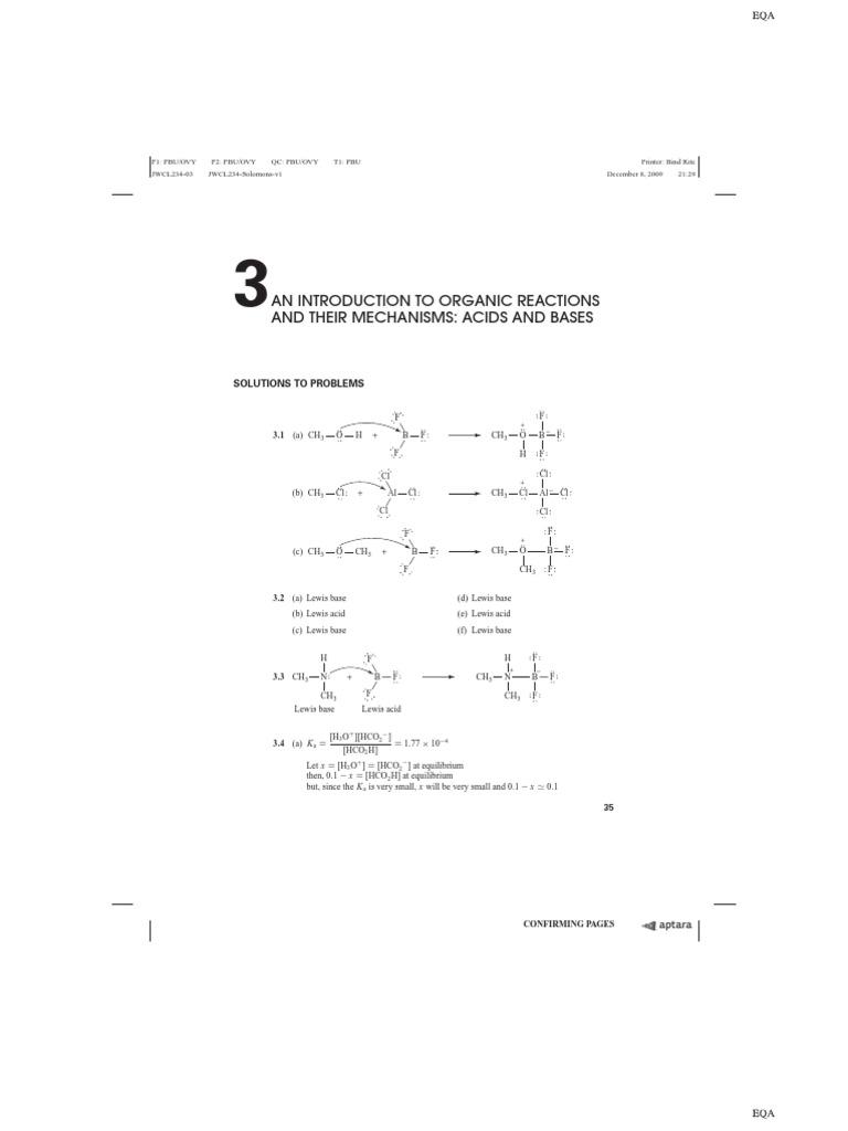 Solomons Organic Chemistry Solution Manual - Chapter 3 | Acid | Acid  Dissociation Constant