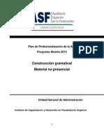 Curso Construcción Gramatical Redactar Infomes 24 sept 12