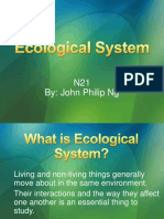 Ecological System JOHN PHILIP NG