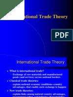 Trade Theory Modified