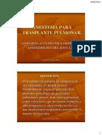 Anestesia Trasplante Pulmonar Nacional Guillermo Almenara
