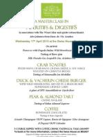 Supper & Masterclass in Aperitifs & Digestifs