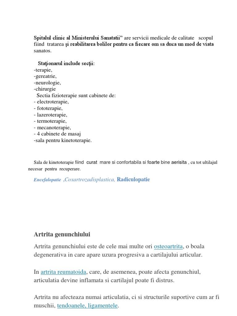 antecedente medicale artrita reumatoidă a genunchiului)