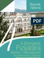 4. Kongres Fizijatara BiH - Zbornik Radova