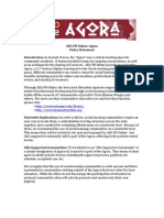 Agora - Policy Statement