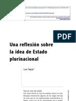 """Tapia, Luis 2007 """"Una reflexión sobre la idea de Estado plurinacional"""""""