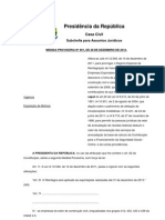 MEDIDA PROVISÓRIA Nº 601, DE 28 DE DEZ DE 2012.
