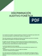 DISCRIMINACION AUDITIVO FONETICA