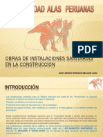 OBRAS DE INSTALACIONES SANITARIAS EN LA CONSTRUCCIÓN