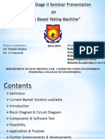 """PPT On """"Sms Based Voting Machine"""" Project"""