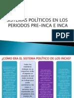 SISTEMAS POLÍTICOS EN LOS PERIODOS PRE-INCA E INCA