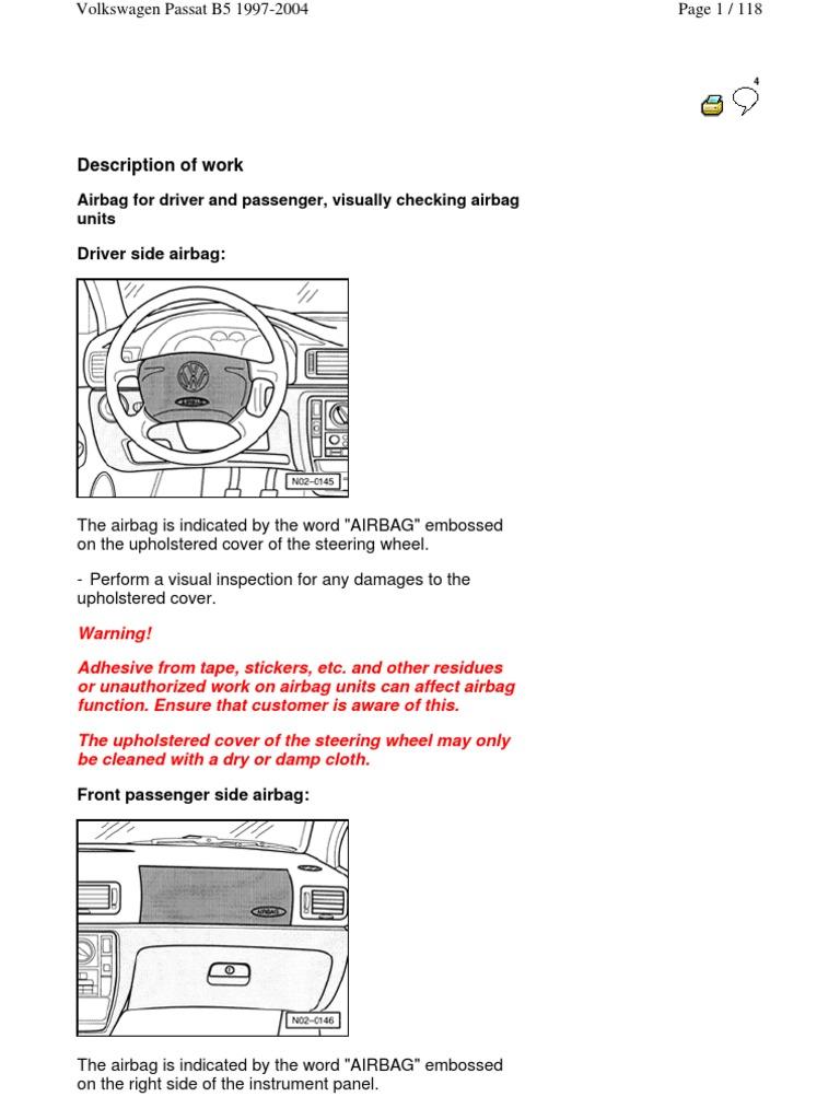 Volkswagen Passat B5 1997 2004 Mantenimiento Tire Belt Mechanical How To Remove Door Panel 2000 Vw Wiring Diagram