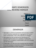 Demerger and Reverse Merger