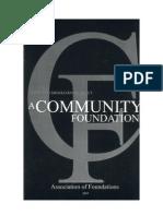 Community Foundation Primer