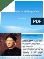 Referat Marile descoperiri geografice
