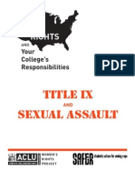 title ix and sexual assault