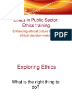Ethic in Public Sector
