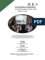 Protocolo Nacional de Respuesta Temporada Lluvia2013