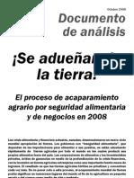 Grain 142 Se Aduenan de La Tierra El Proceso de Acaparamiento Agrario Por Seguridad Alimentaria y de Negocios en 2008