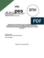 CONPES 3731. Oct 2012. Nuevos Territorios de Paz